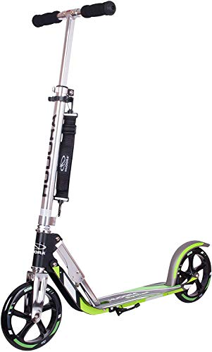 Hudora 14695 Big Wheel GS 205 - Patinete, color negro / verde