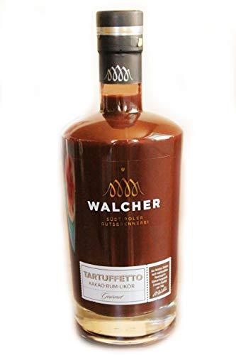 Tartuffetto Kakao Rum Likör 17% 70 cl. - Brennerei Walcher - Südtiroler Spezialität - feiner karibischer Rum mit edlen Kakao - cremig schokoladiger Genuss