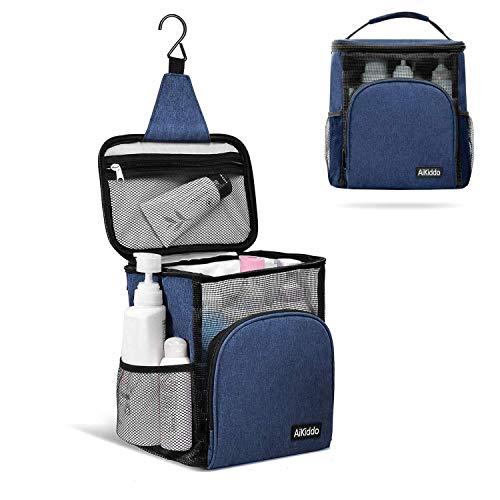 AiKiddo wasserdichte Tasche aus Canvas/Netz Tragbare für Badewanne Dusche – perfekte Strandtasche, Badetasche mit Henkeln, Duschkorb zum Hängen für Shampoo, Conditioner und sonstiges Duschzubehör