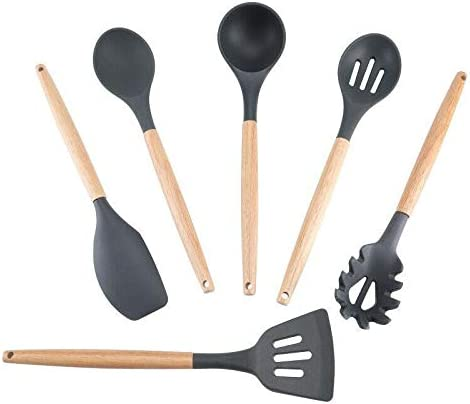 Silicone Cooking Utensils Set - Factory outlet 6 Piece K New products, world's highest quality popular! 12inch Stainless Steel