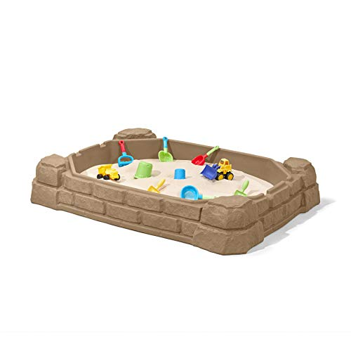 Step2 Naturally Playful Bac à Sable Enfant | Bac à Sable pour Enfants en Plastique avec Couvercle