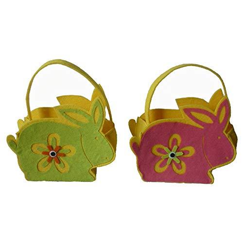 Bolsa de regalo para niños con diseño de conejos de Pascua, bolsa de regalo para niños