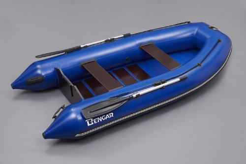 Bengar opblaasbare boot set L-320 Lotus 320, motorboot met lattenbodem in blauw