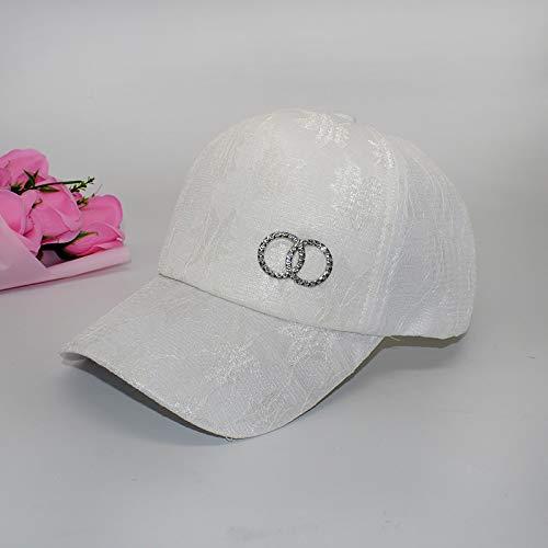 Gorra de béisbol Femenina versión Coreana de la Corona Salvaje de Moda de Encaje ala Curva Primavera y Verano Nueva Gorra de Pico Negro Sombrero al Aire Libre Femenino