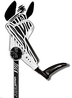 smartCRUTCH (2019) Forearm Crutch 15-90 Degree Rotation - 2 Ergonomic Walking Aids, Adjustable 4'4-6'7 Adult Athlete Elderly Injury/Disability, Mobility Support - Medium, Zebra