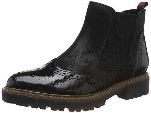MARCO TOZZI Damen 2-2-25412-33 Chelsea Boots, Schwarz (Black Met.Comb 044), 40 EU