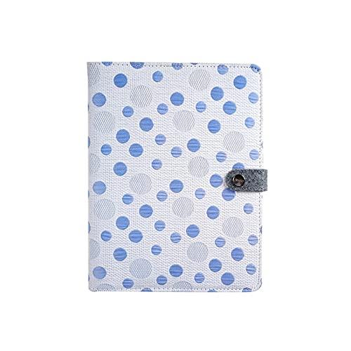 JJH Cuadernos Lindos Revista A5 Viaje Ubicado Cuaderno Negocio Diario Libro Bloc de Notas Grueso Papel 80 Hojas 160 Páginas Mujeres Girls Regalo (Color : Blue)