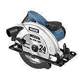 WESCO Sega Circolare 1400W Sega Elettrica Velocità a 5800RPM Angolo e Profondità di Tagl...