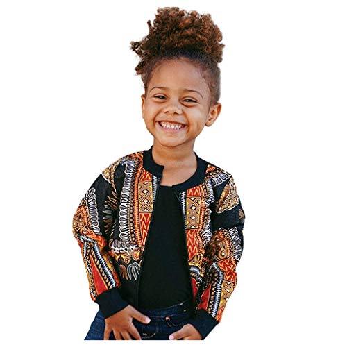 HEETEY Mädchen Tops Outfits & Mantel Kleinkind Kinder Mädchen Junge Herbst Dashiki Afrikanischer Winddichter Mantel Warme Outwear Jacke Spitze Bowknot Bekleidungssets Phantasie Blumen Tutu Kleider