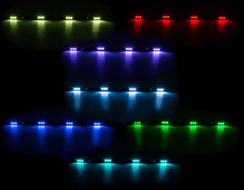 All Ride LKW Innenbeleuchtung, LED-Leiste Flache Bauweise, 4 x 3 SMD-LED, 7 Farben, geschaltet, Länge 70 cm, 10-30V