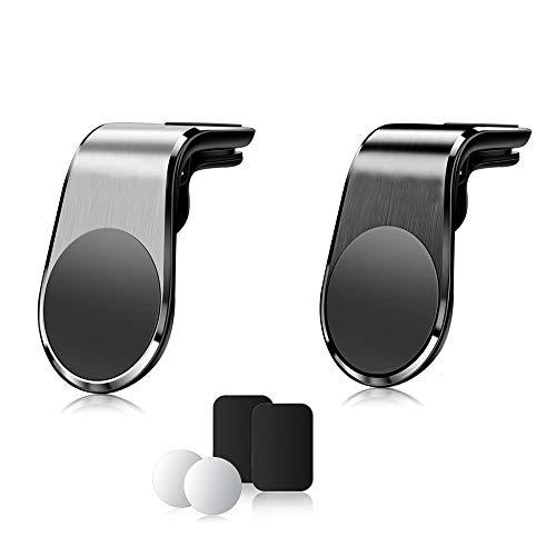 BENDICS Support Téléphone Voiture Magnétique[Lot de 2], Porte Telephone Voiture Aimant Voiture sur grille d'aération pour iphone 11 XS Max XR X 8 7Plus Samsung et la pluspart de Smartphone