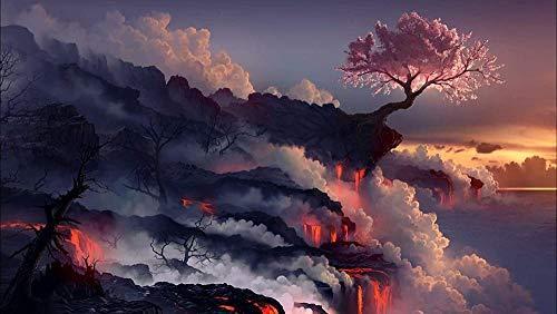 Rompecabezas de 1000 piezas 1000 piezas para adultos erupción de volcán en las nubes incluido caja de regalo personalizada Puzzle 75x50