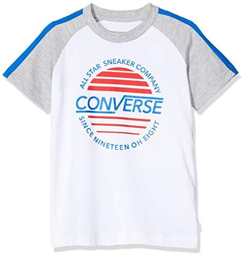 Converse Jungen Retro Raglan Top Pullover, Weiß (White 001), 14-15 Jahre (Hersteller Größe:13-15Jahre)