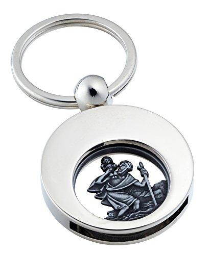 Schlüsselanhänger 'Saint Christopher' mit Einakufswagenchip Christophorus von Jadani