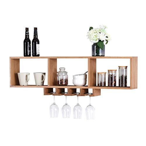 Decoratieve kasten, rekenmachine, televisie, router, wifi, Nordic massief houten wijnrek, wandrek, belasting 35 kg
