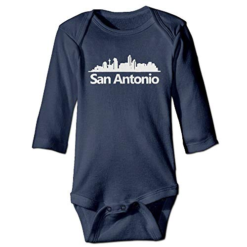 SDGSS Ropa para bebés Bodysuits San Antonio City Shadow Skyline Infant Baby Long Sleeve Jumpsuits