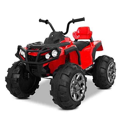 Playkin QUAD RACER ROJO - QUAD niños moto electrico infantil 12V bateria recargable 4 ruedas +3 años juguetes infantiles coches de bateria