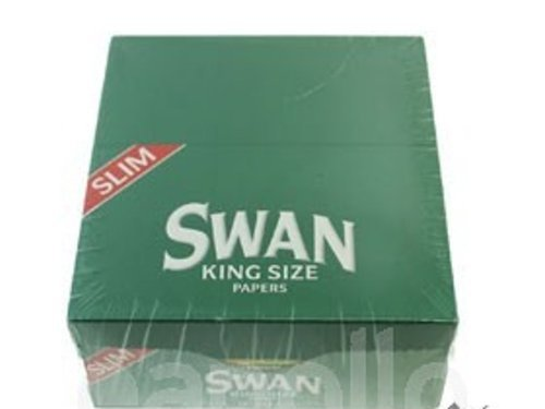 Swan - Papier À Rouler Vert King Size - Boîte Complète De 50 Feuillets