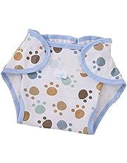 QiKun-Home Herbruikbare volledig katoenen pasgeboren baby natuurlijke luierdoek Comfortabele 6 lagen wasbare babyverzorgingsproducten wit