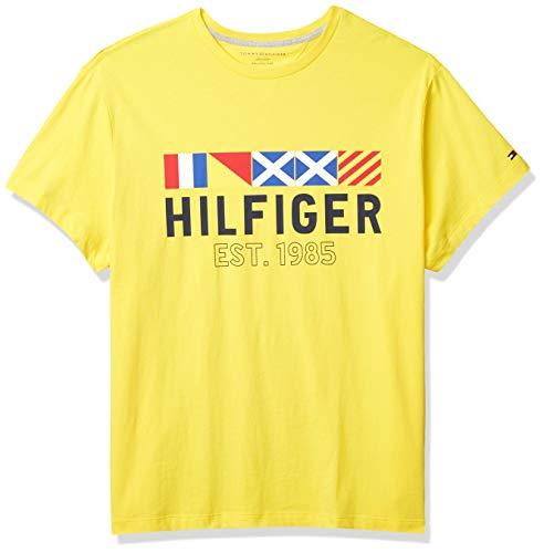 Tommy Hilfiger Men's Big & Tall Big and Tall Graphic T Shirt, Capri Yellow, 5XL-BG