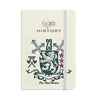 ヨーロッパライオンエンブレムの中世の騎士の剣 歴史ノートクラシックジャーナル日記A 5
