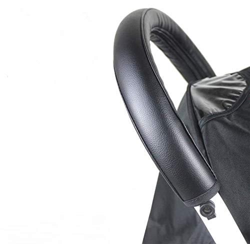 Zerodis Baby Kinderwagen Griff Abdeckung mit Reißverschluss Griffbezug Buggy Zubehör Staubdicht PU Lederbezug