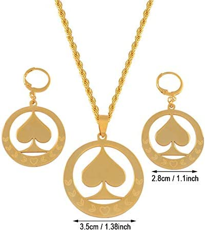 Guam Jewelry sets Pendant Necklaces Earrings Gold Color Marshall Chains Micronesia Ornaments