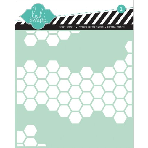 Heidi Swapp Honeycomb Stencil, 6 by 6-Inch
