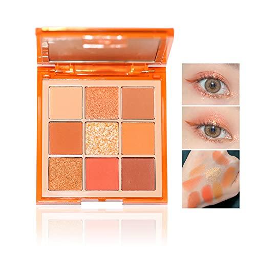 Palette di ombretti a 9 colori Eyeshadow Palette professionali altamente pigmentati con glitter multi riflettenti opachi (04)