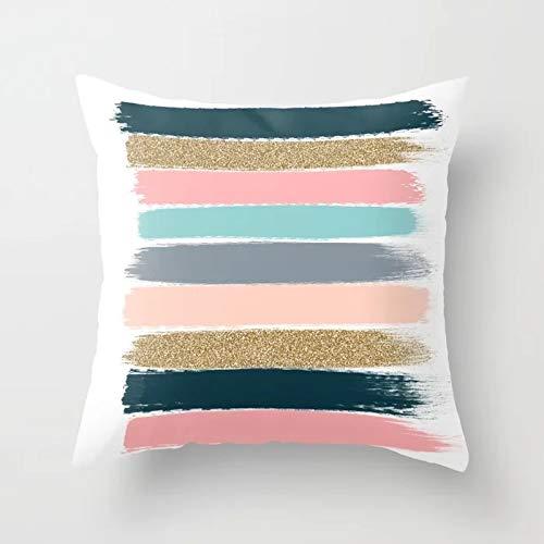 Tropical Throw Pillow Cover Flamingo Leaf Cactus Coconut Funda de cojín geométrica Funda de Almohada para sofá Funda de cojín A23 45x45cm 1pc