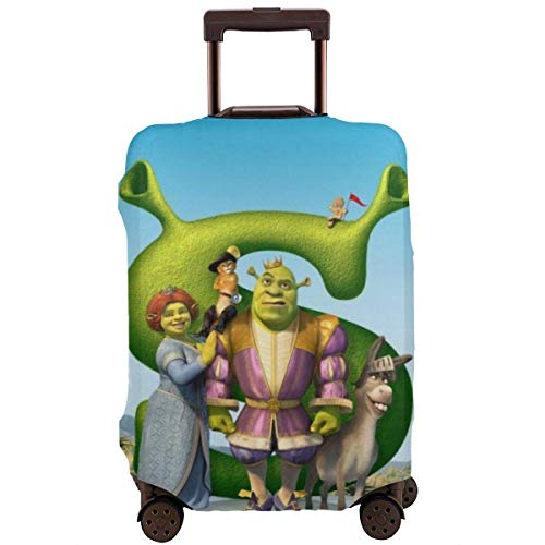 IUBBKI Travel Luggage Cover Cartoon Shrek Suitcase Cover Protector Washable Baggage Luggage Covers Zipper Fits XL