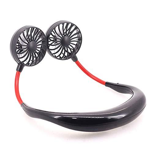 Kurphy Lazy - Ventilador de cuello para colgar al aire libre, carga conveniente para estudiantes, mini USB, pequeño ventilador eléctrico
