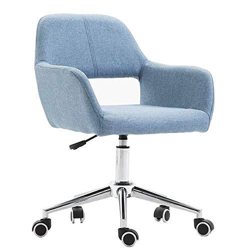 CEyyPD Silla de Ordenador con la polea, de Altura Ajustable, Gira sobre un Eje de Ministerio del Interior del sillón (Color : Azul Claro)