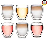 Creano 6er Set 400 ml Thermoglas DG-B, Glas, transparent, 400ml-6er, 6-Einheiten