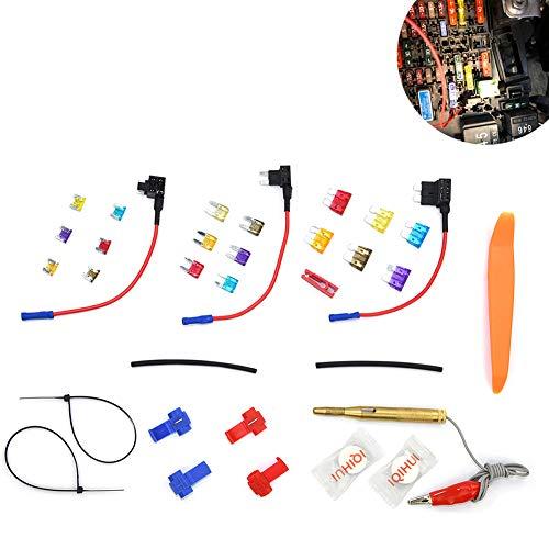 ACHICOO - Kit de herramientas para encendedor de cigarrillos de 12 V con adaptador de fusible para coche