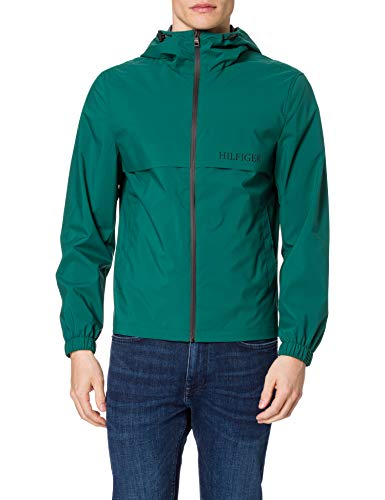 Tommy Hilfiger Tech Hooded Jacket Chaqueta, Verde Rural, L para Hombre