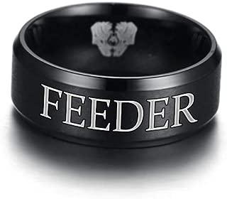 MPRAINBOW Stainless Steel Ring for Men League of Legends Symbol Feeder Ring for Men