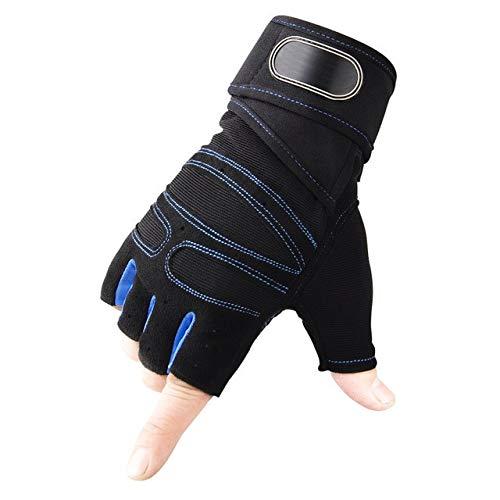 Gants de Gymnastique Gants d'haltérophilie Fitness Musculation Entraînement Sportif Exercice Sportif Gant d'entraînement Sportif pour Hommes Femmes M/L/XL - Bleu, XL