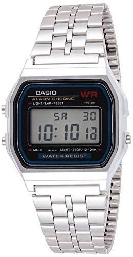 Relógio Feminino Digital Casio Vintage A159Wa-N1Df, Prata