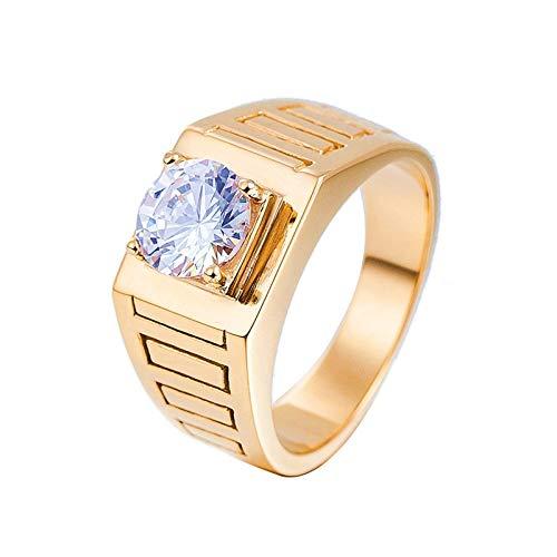 Beydodo Anelli di Matrimonio in Oro Acciaio Anello Solitario 4 Poli Misura 15 Anello Valentino Zircone