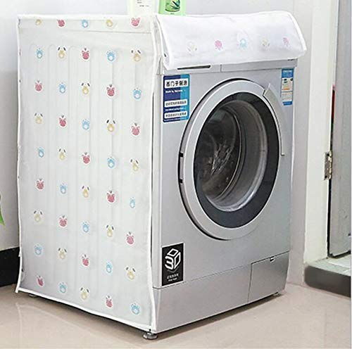 SWARG Washing Machine Cover Suitable for Front Load Washing Machines (Color and Design May Vary) (63 cm X 58 cm X 85 cm)