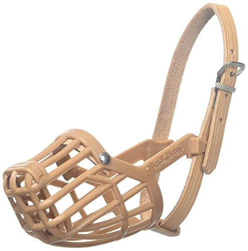 OmniPet Leather Brothers Italian Basket Dog Muzzle, Tan, Size 10