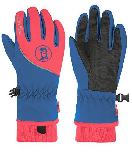 Trollkids Trolltunga Wasserabweisende Handschuhe, Mitternachtsblau/Coral, Größe 5; 9-10 Years