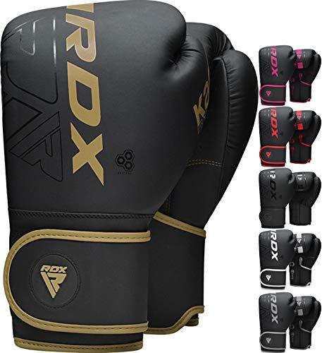 RDX Guantes de Boxeo para Entrenamiento y Muay Thai, Maya Hide Cuero...
