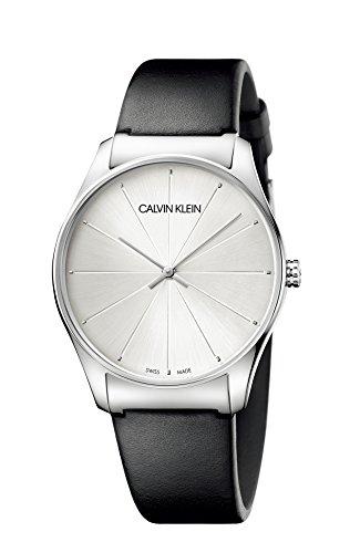 Calvin Klein Reloj Analógico para Mujer de Cuarzo con Correa en Cuero K4D211C6
