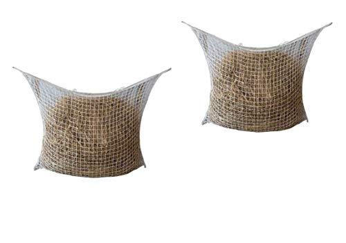 Doppelpack viereckiges Heunetz Wandheunetz weiß 3x3 cm Maschen Größe jedes Netzes 120 x 90 cm