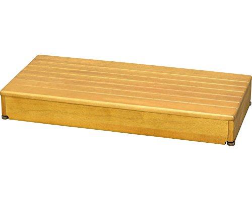 玄関 踏み台 木製 ステップ 1段タイプ 幅90×踏面40×高さ12cm / ライトブラウン