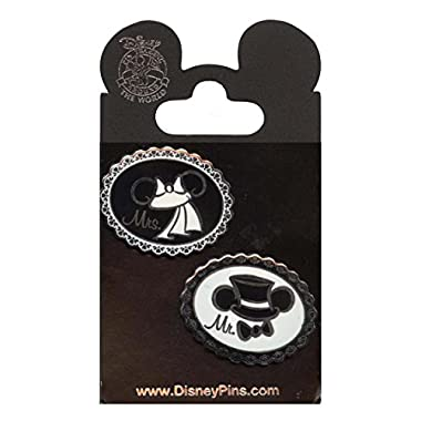 Disney Parks Mickey & Minnie  Mr. & Mrs  Wedding Trading Pin Set - (2 Pins Included)