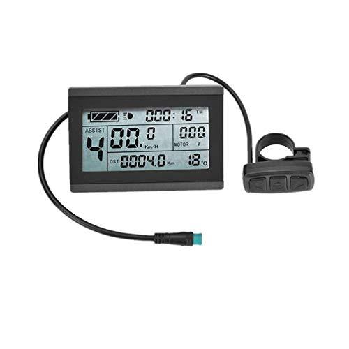 CSCbike Ebike Display, KT-LCD3 Control Panel Display for Electric Bicycel 36V 48V 60V 72V Universal Support Electric Bike Converts Accessories(36/48V, Waterproof Plug)