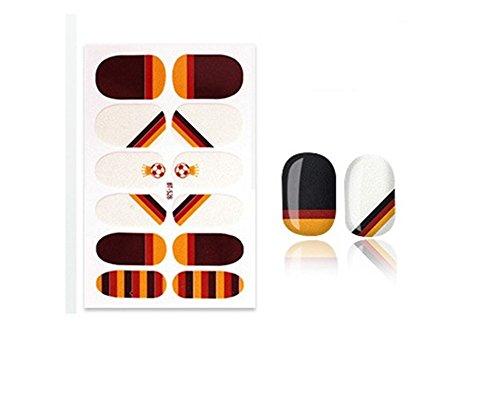 CAOLATOR Nagel-Aufkleber Fußball Muster Nagel Aufkleber Sticker Mode Nagelaufkleber Schöne Nagel Kunst Sticker Praktisch Accessoires Dekoration (Deutschland)